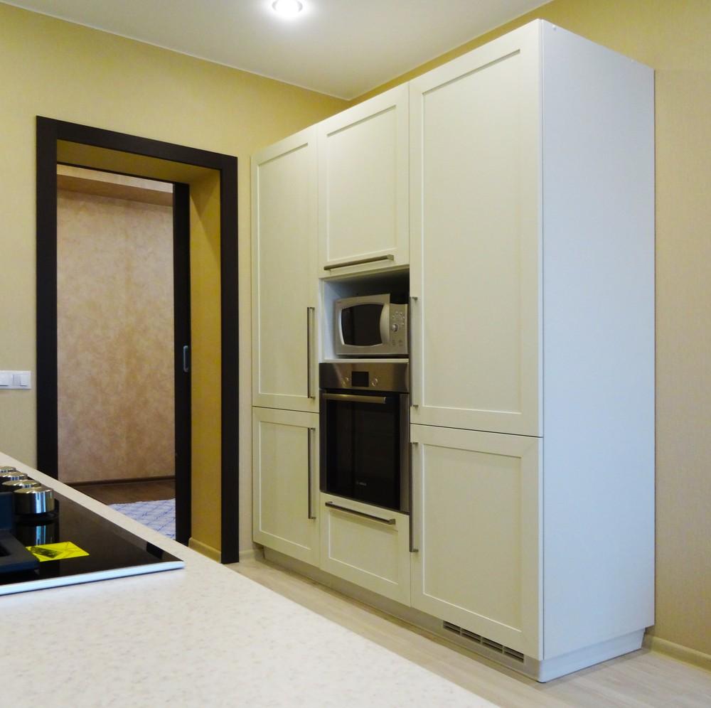 Белый кухонный гарнитур-Кухня МДФ в ПВХ «Модель 26»-фото2