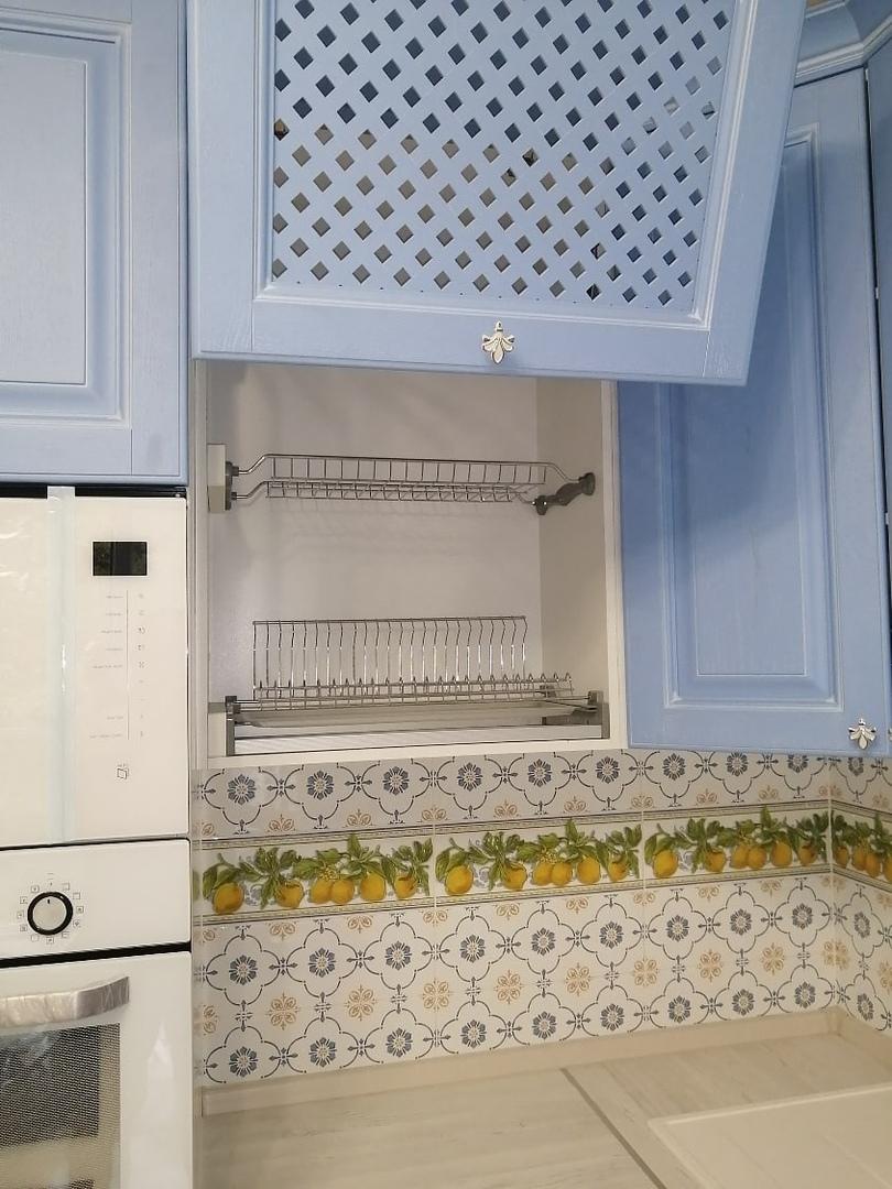 Классические кухни-Кухня МДФ в эмали «Модель 582»-фото7