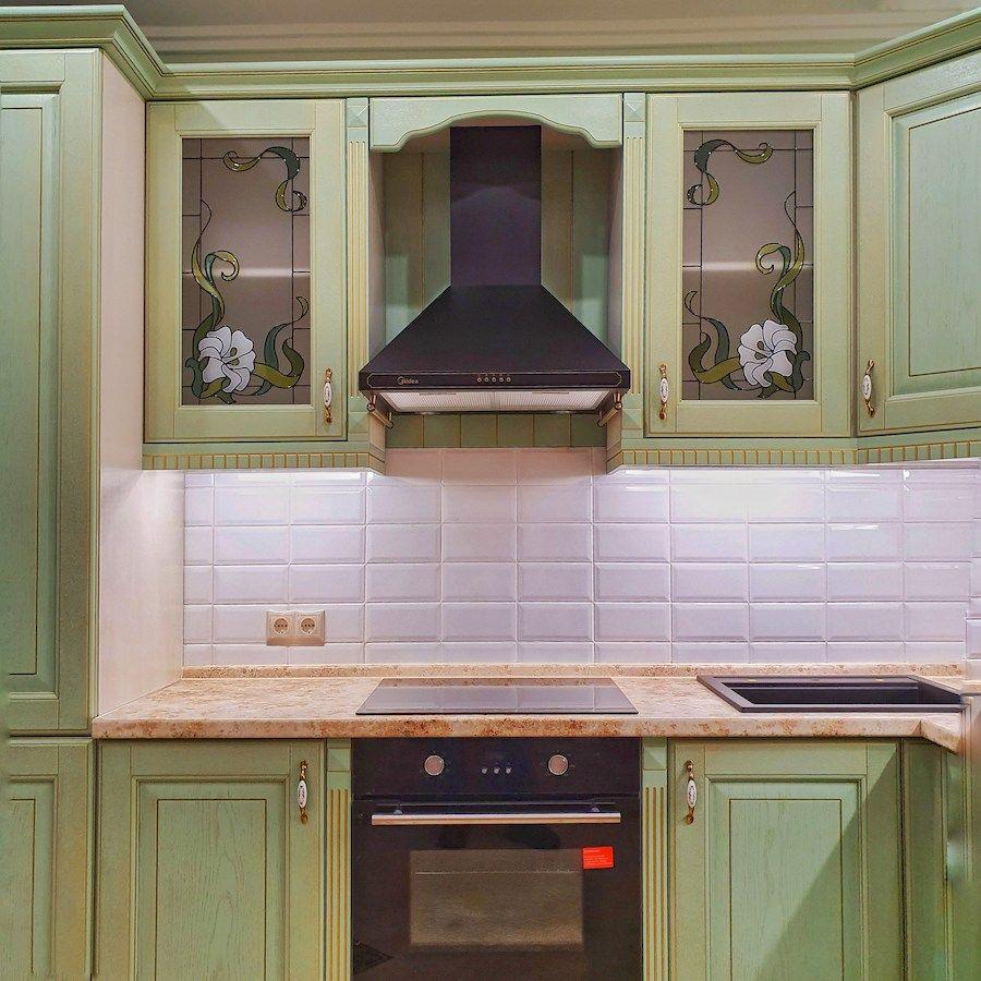 Классические кухни-Кухня из шпона «Модель 559»-фото3