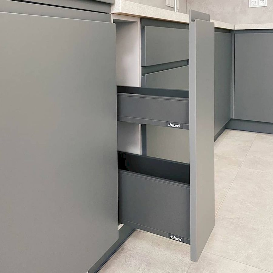 Белый кухонный гарнитур-Кухня МДФ в эмали «Модель 679»-фото5