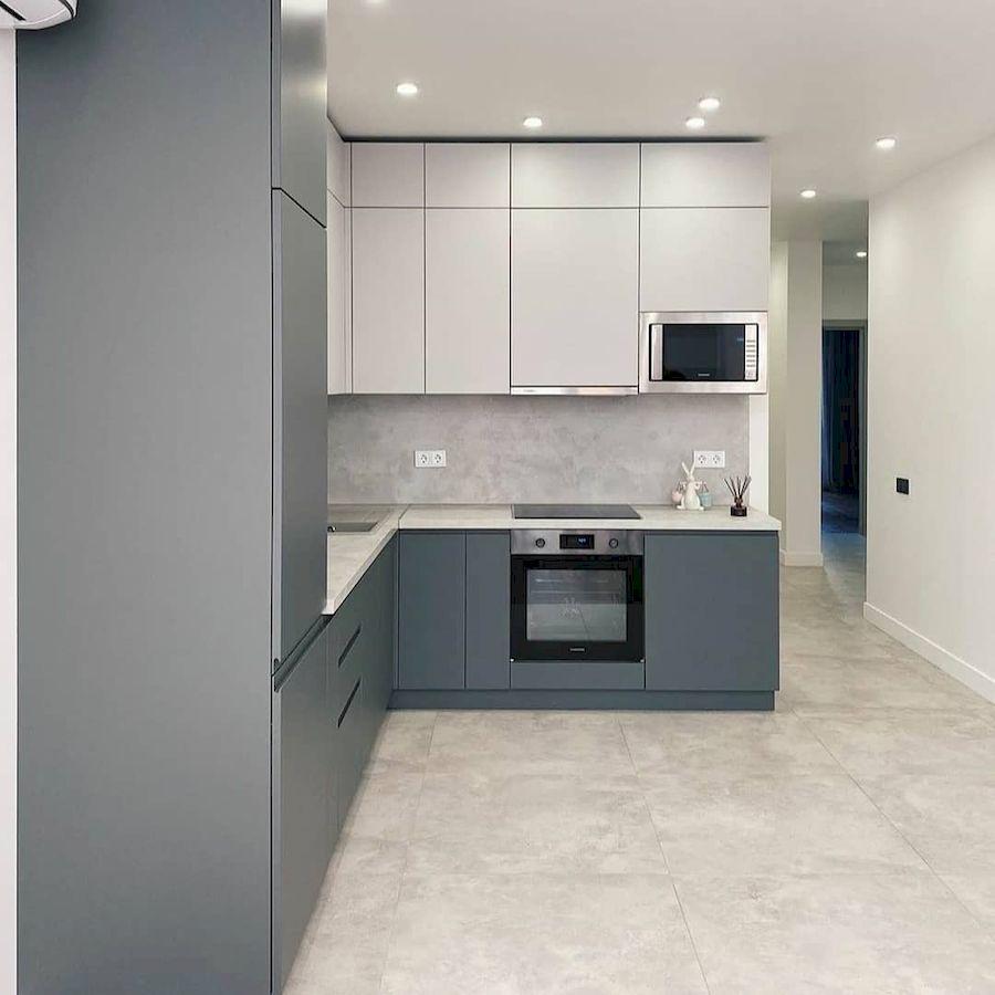 Белый кухонный гарнитур-Кухня МДФ в эмали «Модель 679»-фото2