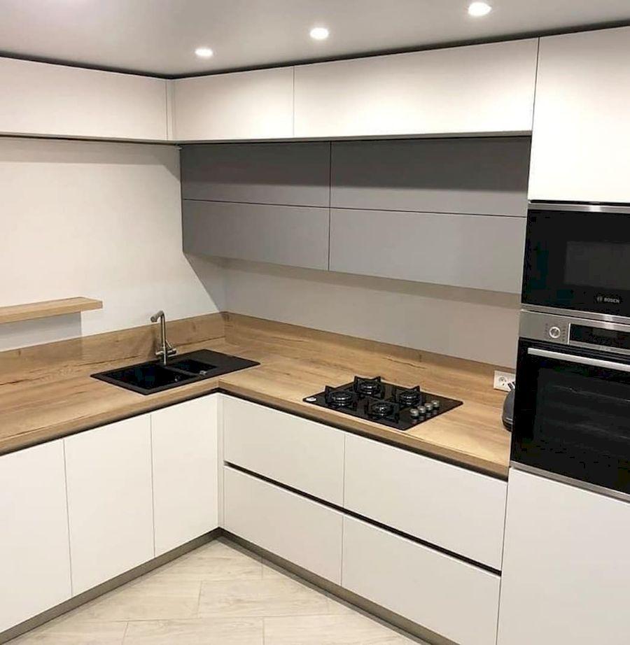 Белый кухонный гарнитур-Кухня МДФ в ПВХ «Модель 666»-фото1