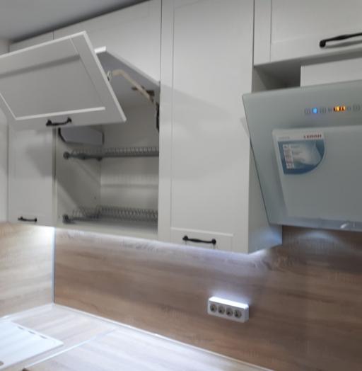 Белый кухонный гарнитур-Кухня МДФ в ПВХ «Модель 500»-фото5
