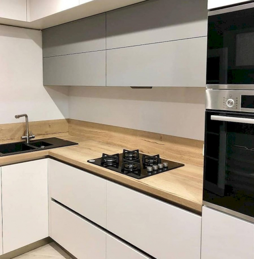 Белый кухонный гарнитур-Кухня МДФ в ПВХ «Модель 666»-фото4